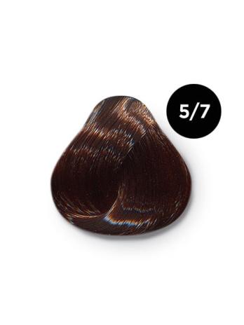 Ollin Color 5.7 светлый шатен коричневый, 60 мл/100 мл. Перманентная крем краска для волос