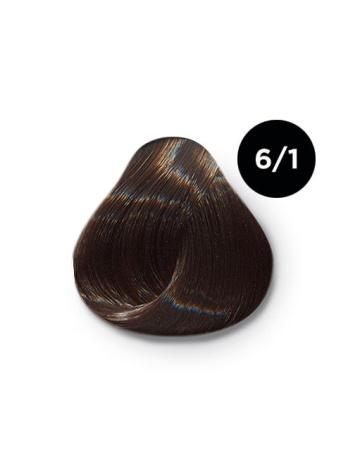 Ollin Color 6.1 темно русый пепельный, 60 мл/100 мл. Перманентная крем краска для волос