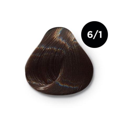 6 1 крем краска Ollin color 454x454 - Ollin Color 6.1 темно русый пепельный, 60 мл/100 мл. Перманентная крем краска для волос
