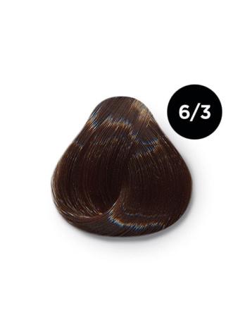 6 3 крем краска Ollin color 348x464 - Ollin Color 6.3 темно русый золотистый, 60 мл/100 мл. Перманентная крем краска для волос