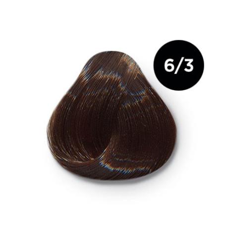 6 3 крем краска Ollin color 454x454 - Ollin Color 6.3 темно русый золотистый, 60 мл/100 мл. Перманентная крем краска для волос