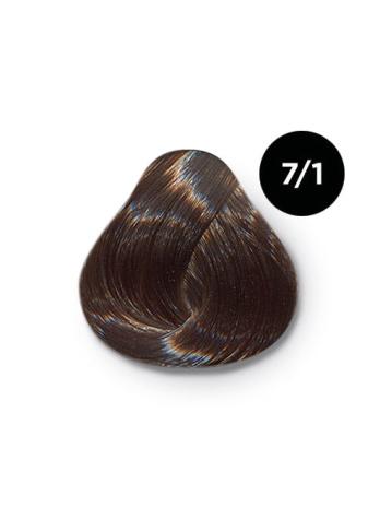 Ollin Color 7.1 русый пепельный, 60 мл/100 мл. Перманентная крем краска для волос