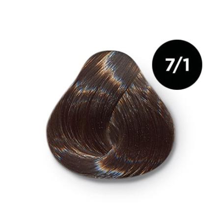 7 1 крем краска Ollin color 454x454 - Ollin Color 7.1 русый пепельный, 60 мл/100 мл. Перманентная крем краска для волос