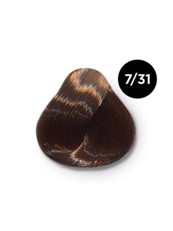 Ollin Color 7.31 русый золотисто пепельный, 60 мл/100 мл. Перманентная крем краска для волос
