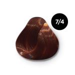 Ollin Color 7.4 русый медный, 60 мл/100 мл. Перманентная крем краска для волос