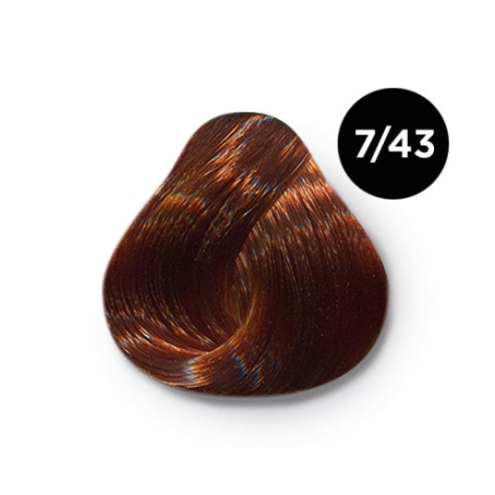7 43 крем краска Ollin color 454x454 - Ollin Color 7.43 русый медно золотистый, 60 мл/100 мл. Перманентная крем краска для волос