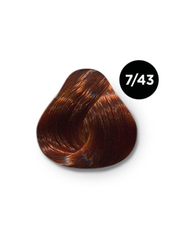 Ollin Silk Touch 7.43 русый медно золотистый 60 мл. Безаммиачный стойкий краситель для волос