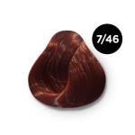 Ollin Color 7.46 русый медно красный, 60 мл/100 мл. Перманентная крем краска для волос