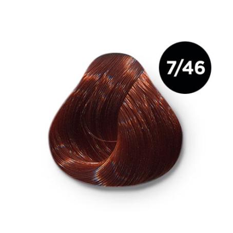 7 46 крем краска Ollin color 454x454 - Ollin Color 7.46 русый медно красный, 60 мл/100 мл. Перманентная крем краска для волос