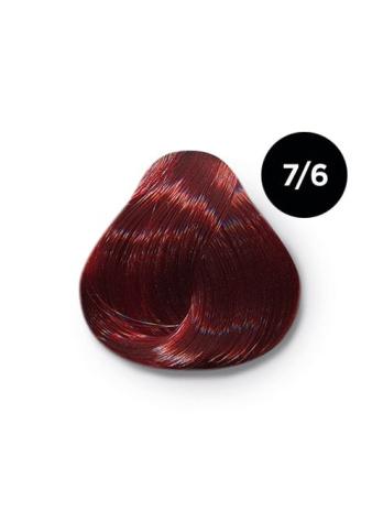 7 6 крем краска Ollin color 348x464 - Ollin Color 7.6 русый красный, 60 мл/100 мл. Перманентная крем краска для волос