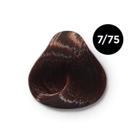 7 75 крем краска Ollin color 454x454 - Ollin Color 7.75 русый коричнево махагоновый, 60 мл/100 мл. Перманентная крем краска для волос