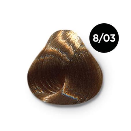 8 03 крем краска Ollin color 454x454 - Ollin Color 8.03 светло русый прозрачно золотистый, 60 мл/100 мл. Перманентная крем краска для волос