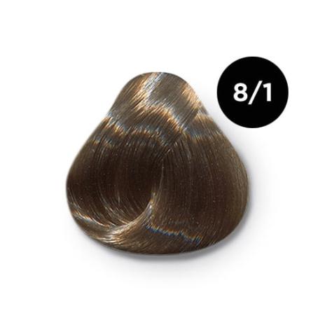 8 1 крем краска Ollin color 454x454 - Ollin Color 8.1 светло русый пепельный, 60 мл/100 мл. Перманентная крем краска для волос