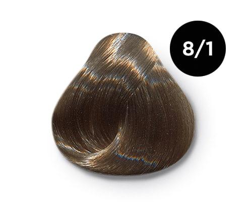 8 1 крем краска Ollin color - Ollin Color 8.1 светло русый пепельный, 60 мл/100 мл. Перманентная крем краска для волос