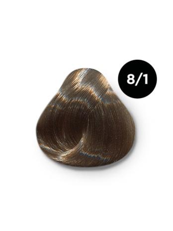 Ollin Silk Touch 8.1 светло русый пепельный 60 мл. Безаммиачный стойкий краситель для волос