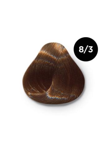 8 3 крем краска Ollin color 348x464 - Ollin Color 8.3 светло русый золотистый, 60 мл/100 мл. Перманентная крем краска для волос