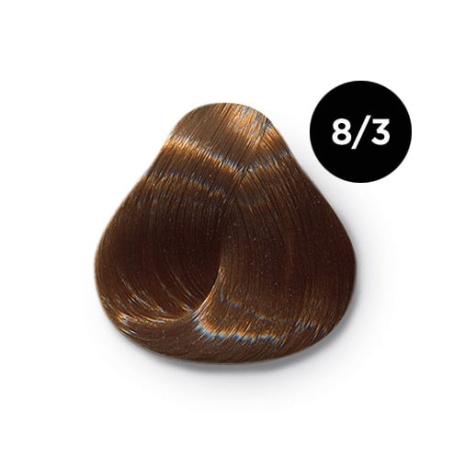 8 3 крем краска Ollin color 454x454 - Ollin Color 8.3 светло русый золотистый, 60 мл/100 мл. Перманентная крем краска для волос