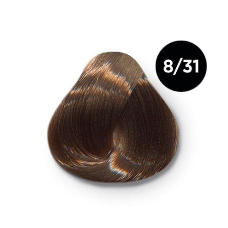 8 31 крем краска Ollin color 454x454 - Ollin Color 8.31 светло русый золотисто пепельный, 60 мл/100 мл. Перманентная крем краска для волос
