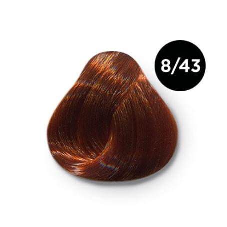 8 43 крем краска Ollin color 454x454 - Ollin Color 8.43 светло русый медно золотистый, 60 мл/100 мл. Перманентная крем краска для волос
