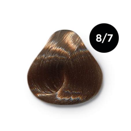 8 7 крем краска Ollin color 454x454 - Ollin Color 8.7 светло русый коричневый, 60 мл/100 мл. Перманентная крем краска для волос
