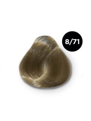 Ollin Silk Touch 8.71 светло русый коричнево пепельный 60 мл. Безаммиачный стойкий краситель для волос