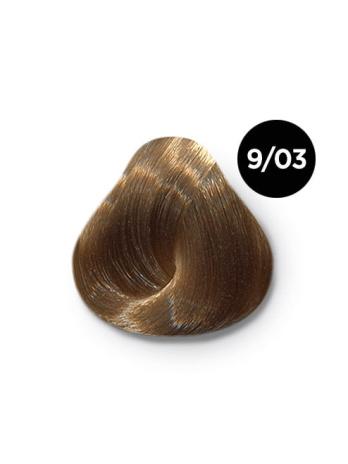 Ollin Color 9.03 блондин прозрачно золотистый, 60 мл/100 мл. Перманентная крем краска для волос