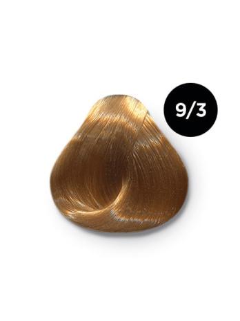 Ollin Color 9.3 блондин золотистый, 60 мл/100 мл. Перманентная крем краска для волос