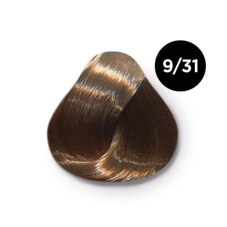 9 31 крем краска Ollin color 454x454 - Ollin Color 9.31 блондин золотисто пепельный, 60 мл/100 мл. Перманентная крем краска для волос
