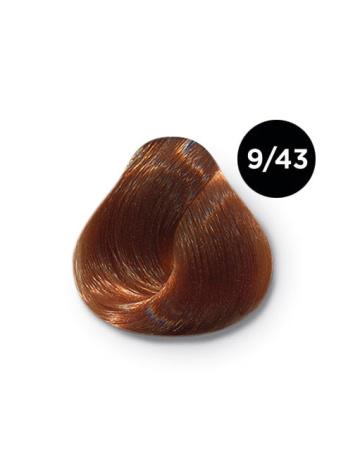 Ollin Color 9.43 блондин медно золотистый, 60 мл/100 мл. Перманентная крем краска для волос