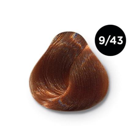 9 43 крем краска Ollin color 454x454 - Ollin Color 9.43 блондин медно золотистый, 60 мл/100 мл. Перманентная крем краска для волос