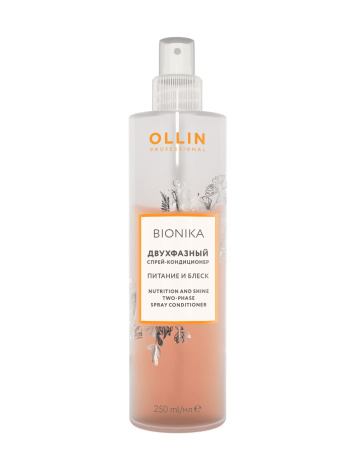 Двухфазный спрей кондиционер Ollin Bionika «Питание и блеск», 250мл