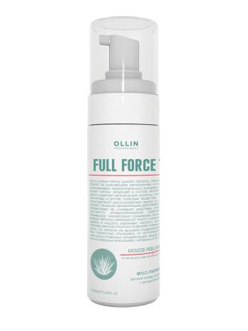 Мусс пилинг против перхоти для волос и кожи головы с экстрактом алоэ Olllin Full Force,160мл