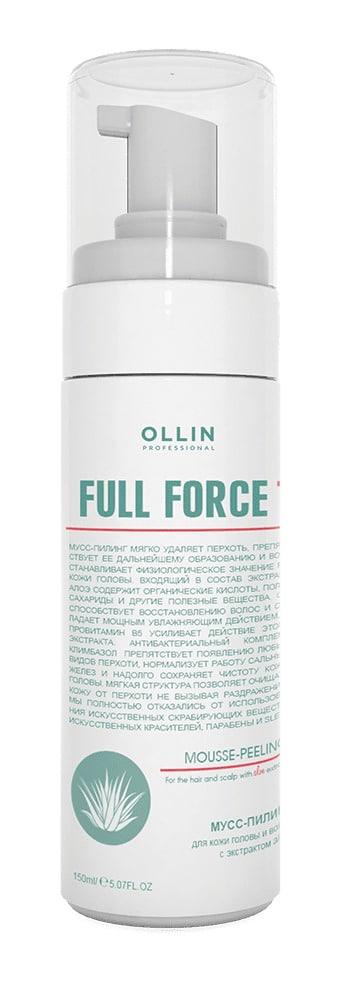 Full force мусс пилинг 160 мл - Мусс пилинг против перхоти для волос и кожи головы с экстрактом алоэ Olllin Full Force,160мл