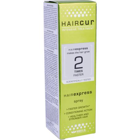 HAIRCUR hairexpress sprey коробка 454x454.png - Лосьон против выпадения волос со стволовыми клетками HAIR CUR, 10х6 мл/ 40х6 мл